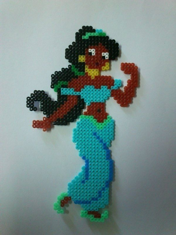 Disney Jasmine hama perler beads