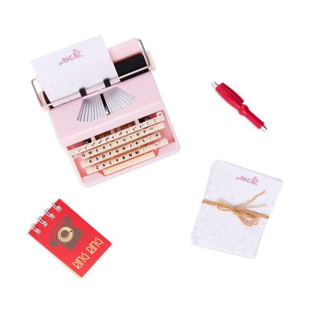 Our Generation Retro Take a Letter 18 Doll Accessories Typewriter