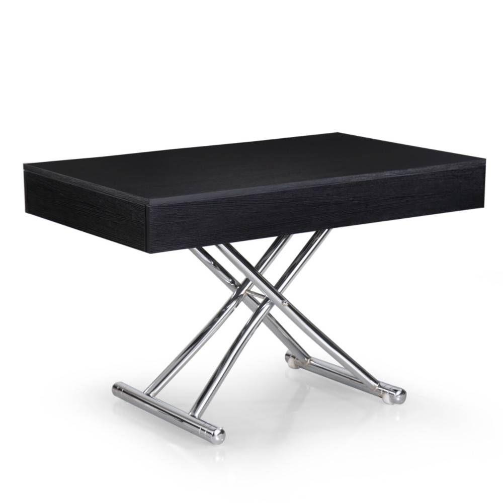 Table Basse Relevable Cube Coloris Chene Noir Extensible 12 Couverts Table Basse Relevable Table Basse Extensible Table Basse