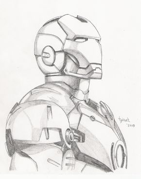 heres a sketch i just finished of iron man took me about an hour hes actually a little harder to draw than i thought thnx for viewing all iron man