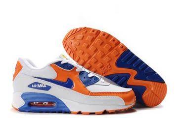 on sale 10c9f 653a8 Air Max 90 Premium Nike Women Size Shoes Back to School Pack Elmers Glue  Edition White Orange Blaze Royal Blue -  95.69
