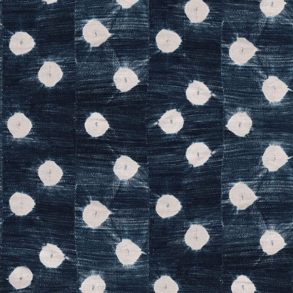Vintage Indigo Dots Wallpaper by St. Frank - would be so cute in a nursery