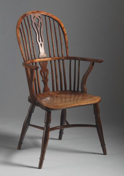 Furniture - Archive - Robert Young Antiques Classic Double Bow and Splat Back Windsor Chair c. 1800