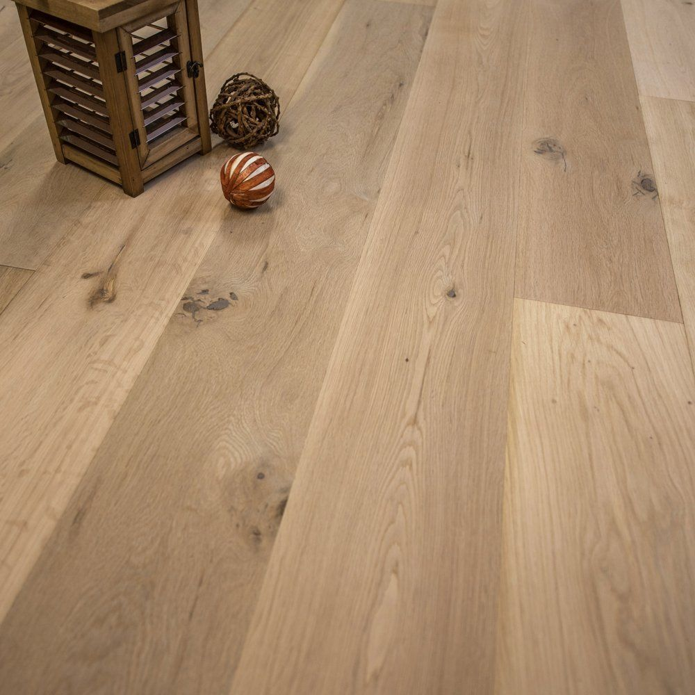 "Wide Plank 7 1/2"" x 5/8"" European French Oak Unfinished"