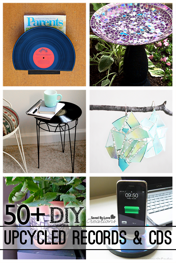 50 Plus Best Diy Upcycle Vinyl Records And Cd Projects To