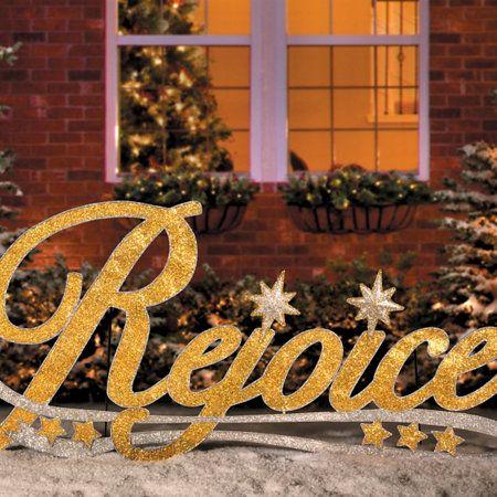 Rejoice Metal Christmas Yard Decor Christmas Yard Decorations Christmas Yard Outdoor Christmas Decorations