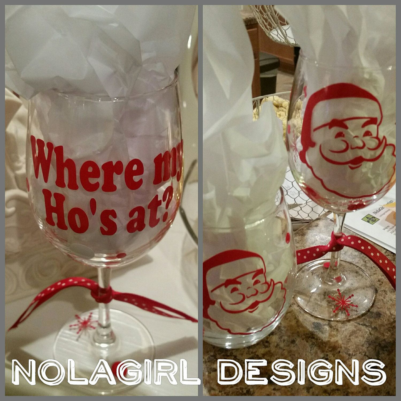 Christmas Wine Glass Christmas Party Favor Teacher Gift Etsy Christmas Wine Glasses Christmas Gifts For Couples Christmas Wine