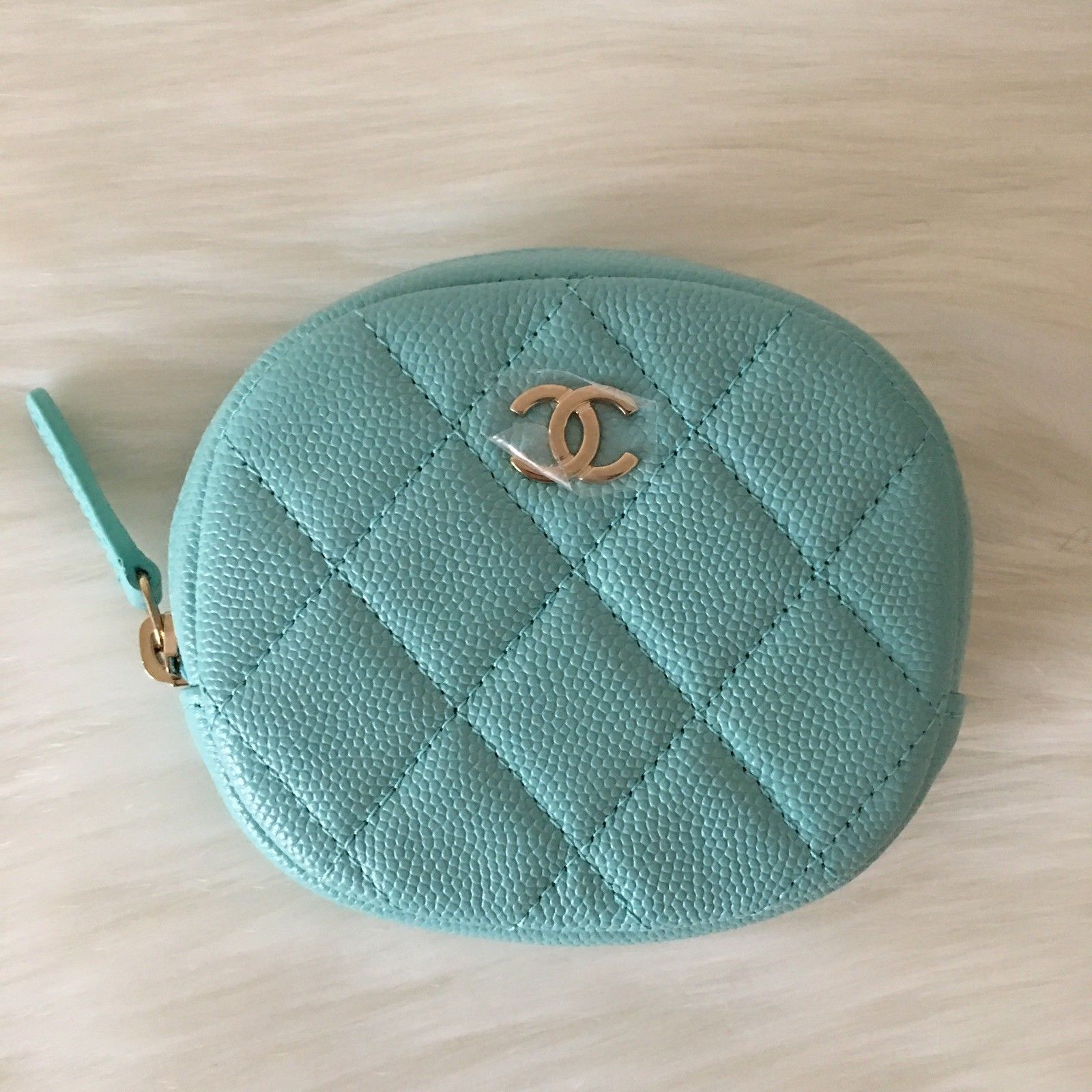 bcd0dbb93004 Brand New Chanel Round Coin Purse Light Blue 19C $775.0 #chanel #handbag