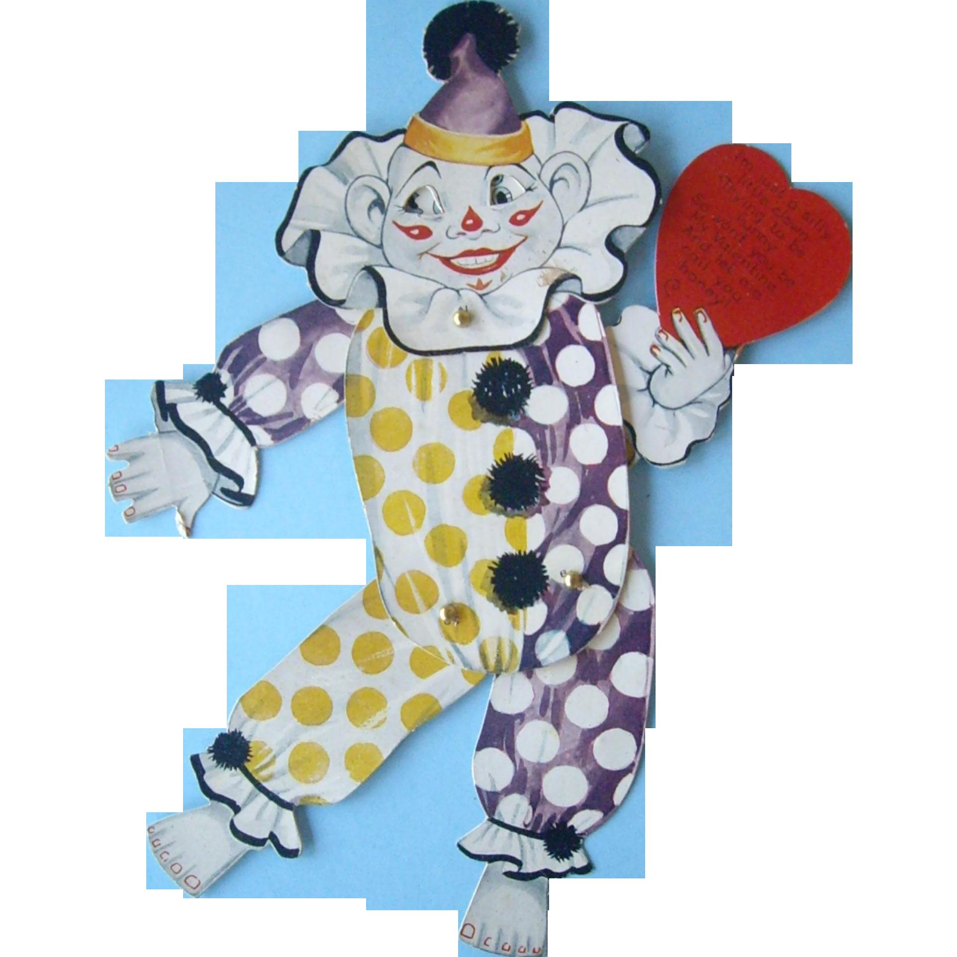 8.5 Inch Clown Valentine Vintage valentines, Dinosaur