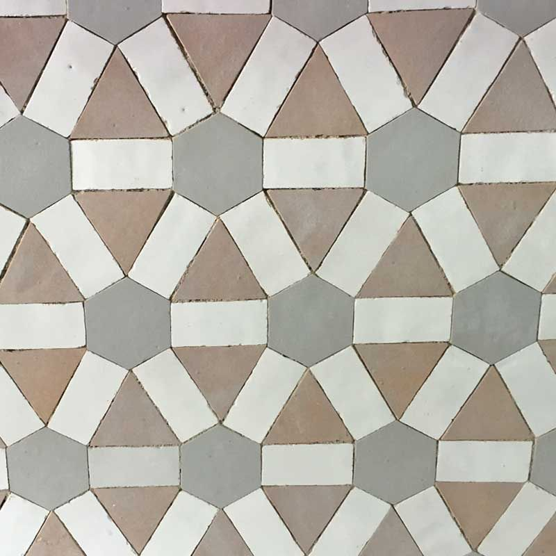 Decorative Tiles Uk Cool Grey And Salmon Pink Decorative Zelliges Mosaic Httpwww Decorating Inspiration