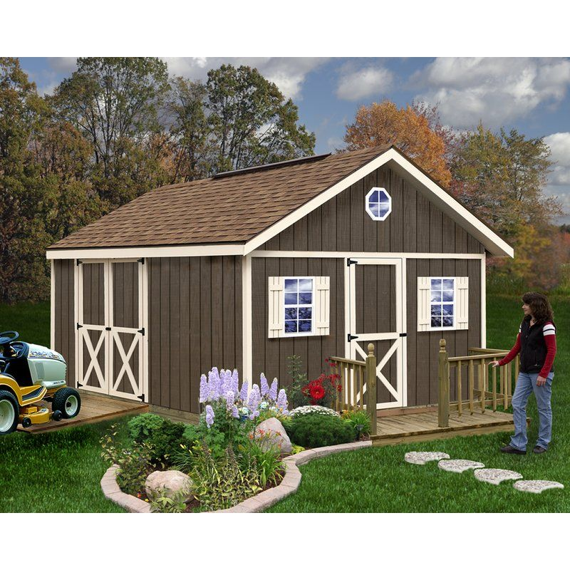 Fairview 12 Ft W X 16 Ft D Solid Wood Storage Shed Wooden Storage Sheds Wood Shed Kits Wood Shed
