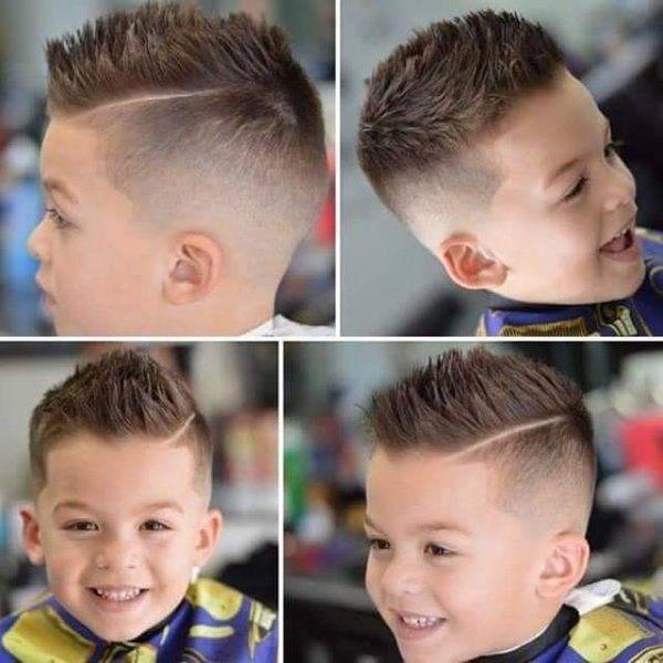 cortes de pelo nios modernos con raya
