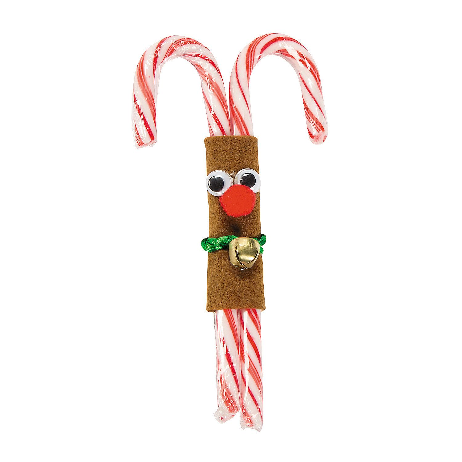 Double Candy Cane Reindeer Craft Kit - OrientalTrading.com