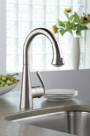 GROHE Ladylux 3 - Main Sink Dual Spray Pull-Down Kitchen Faucet ...