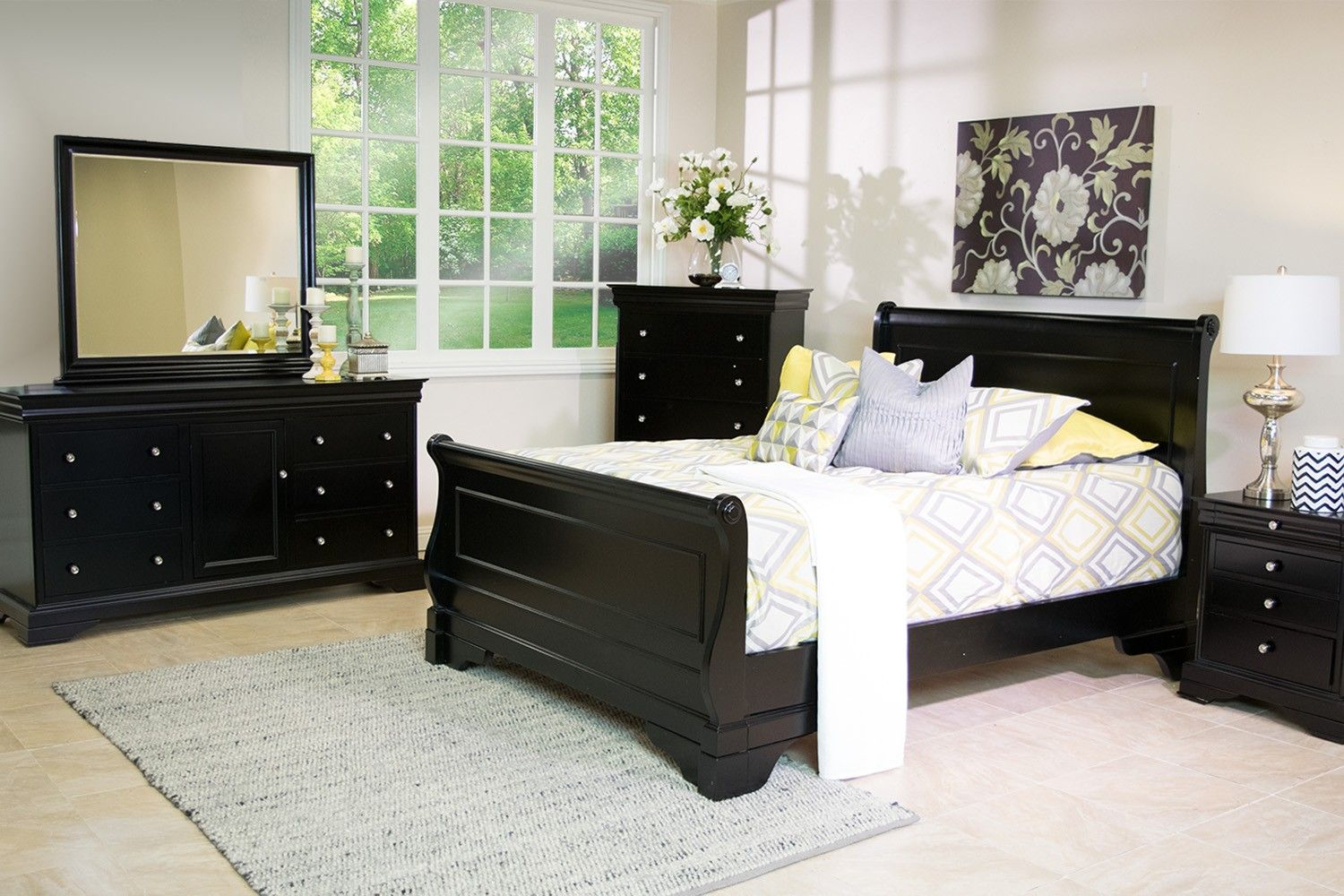 Versailles Bedroom in Black - Bedroom | Mor Furniture for Less ...