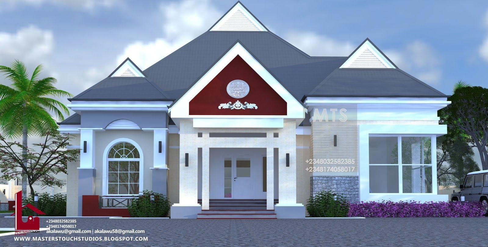 4 Bedroom Bungalow Rf Eb4001 Bungalow House Design 4 Bedroom House Designs House Styles