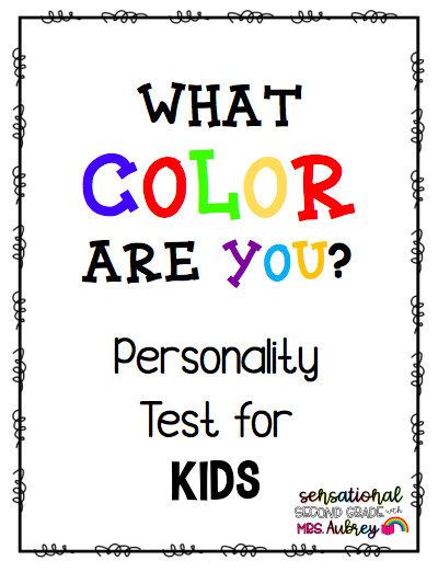 Personality Test For Kids Test For Kids Personality Test Color