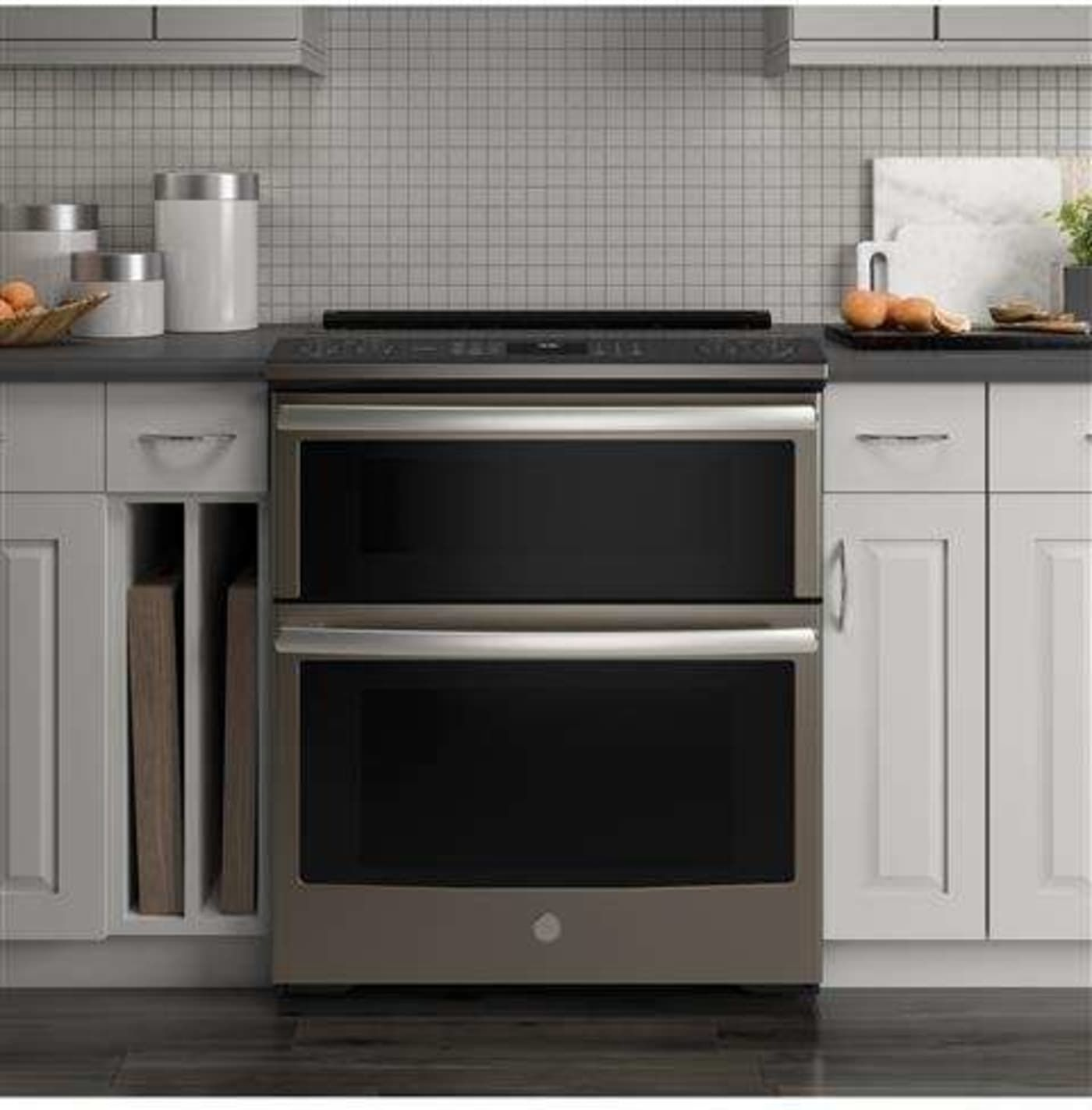 Ps960eles By Ge Electric Ranges Goedekers Com Convection Range Double Convection Oven Double Oven Electric Range