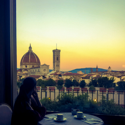 Remembering the sun rise over Il Duomo, The Cattedrale di Santa Maria del Fiore in Florence, Italy. #TravelTuesday