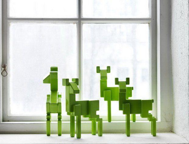 zielone łosie