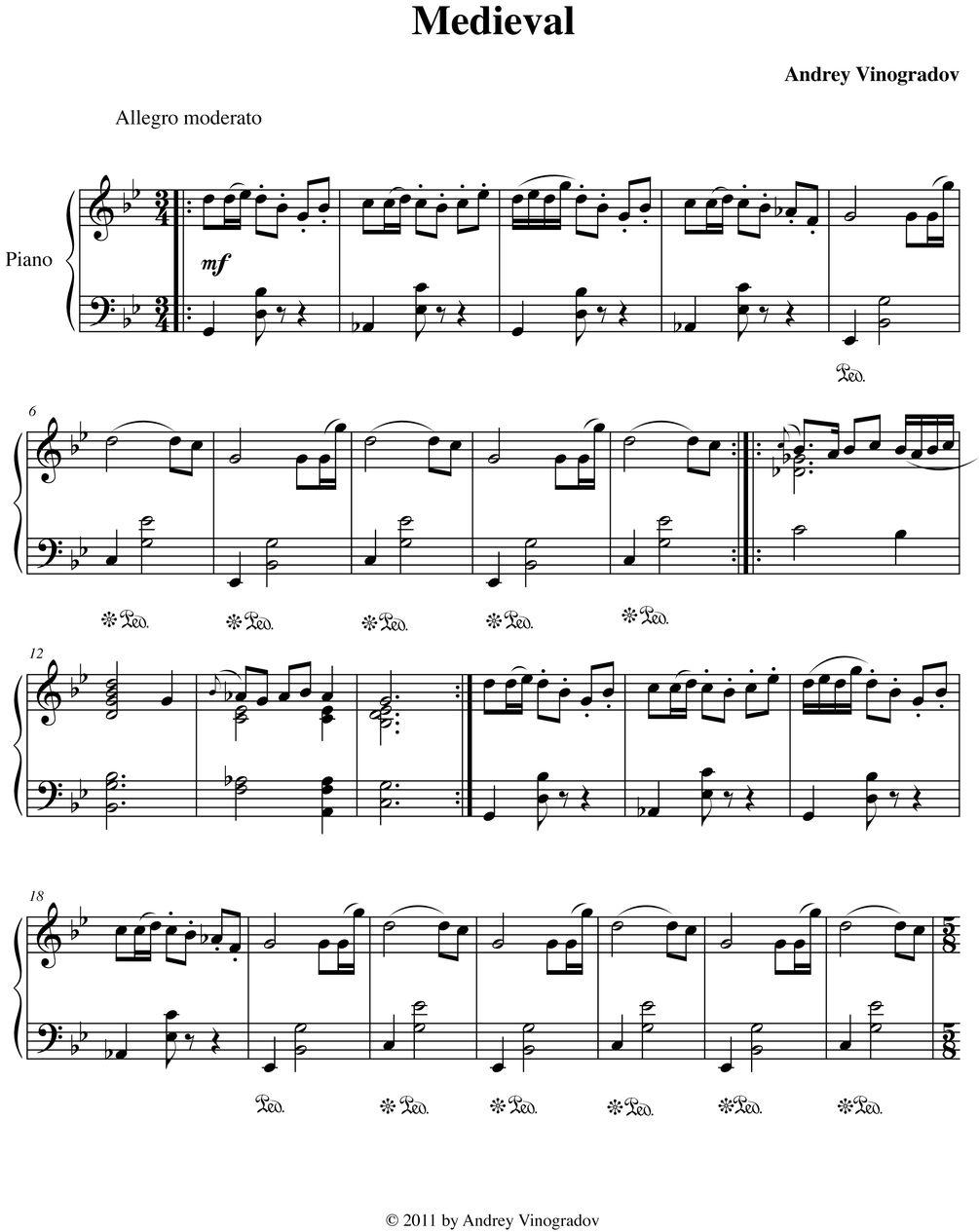 Medieval Medieval Music Sheet Music Piano Sheet Music