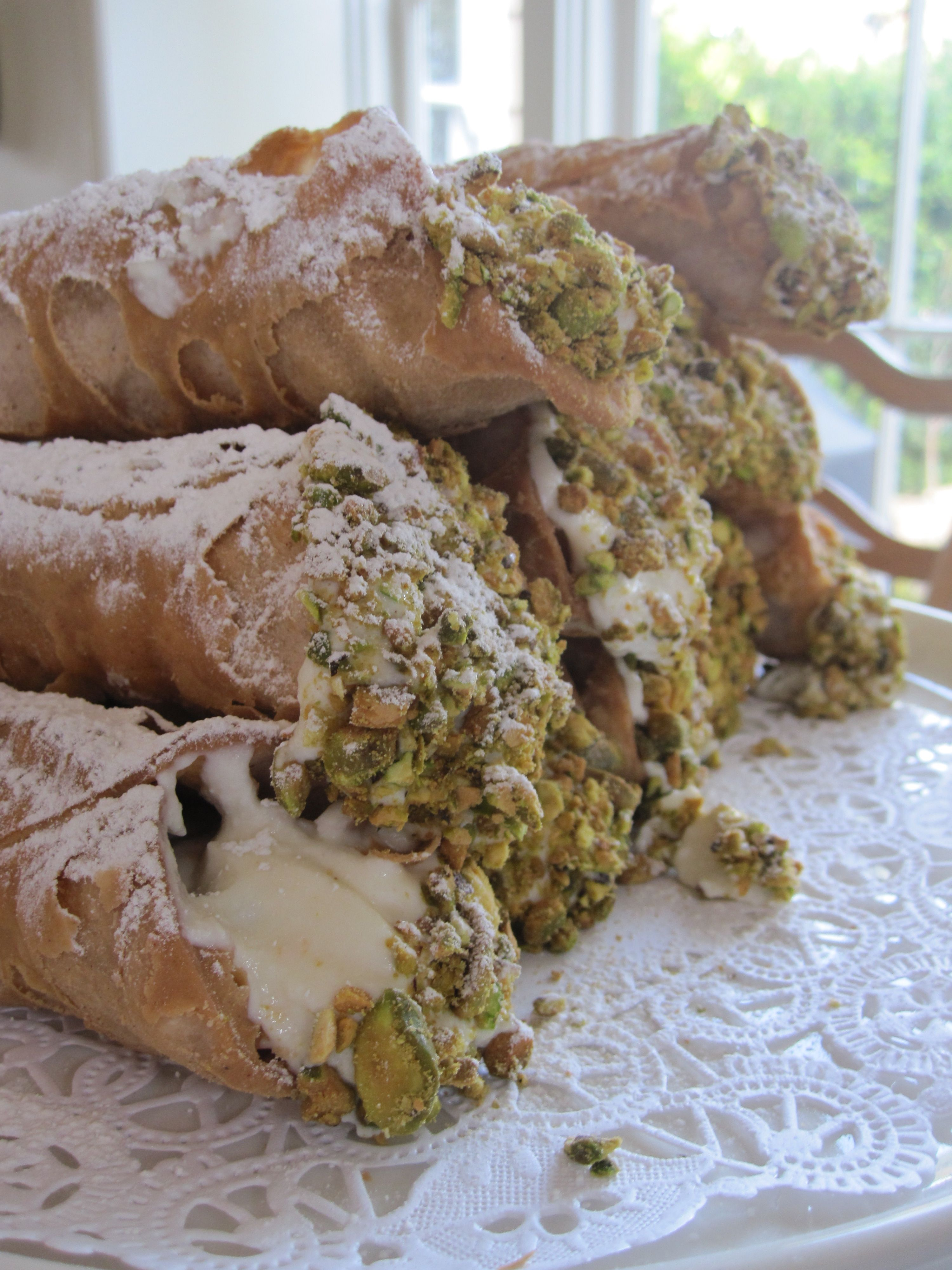 My daughter's cannolis.