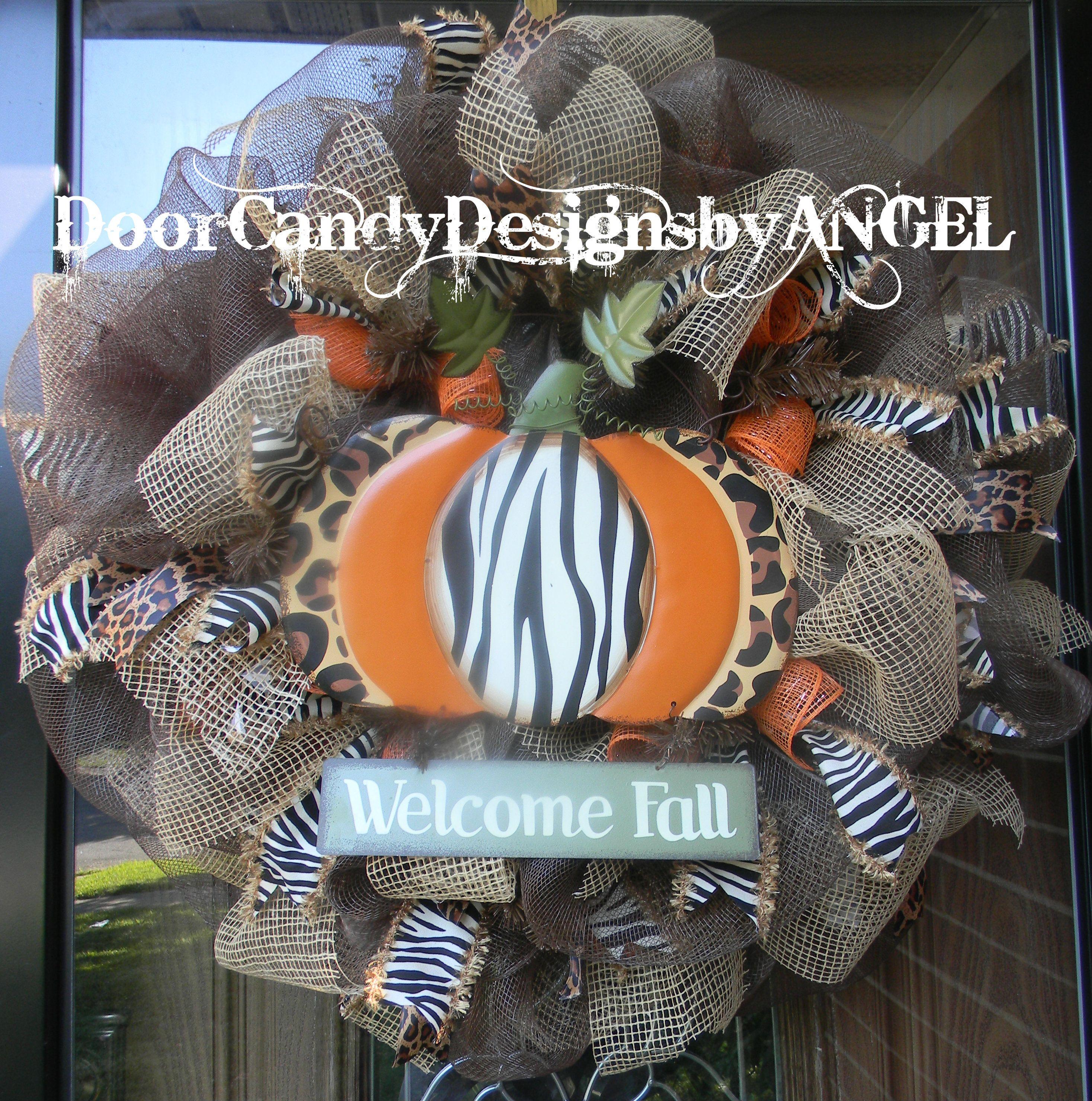 Fall Burlap Design Door candy, fall