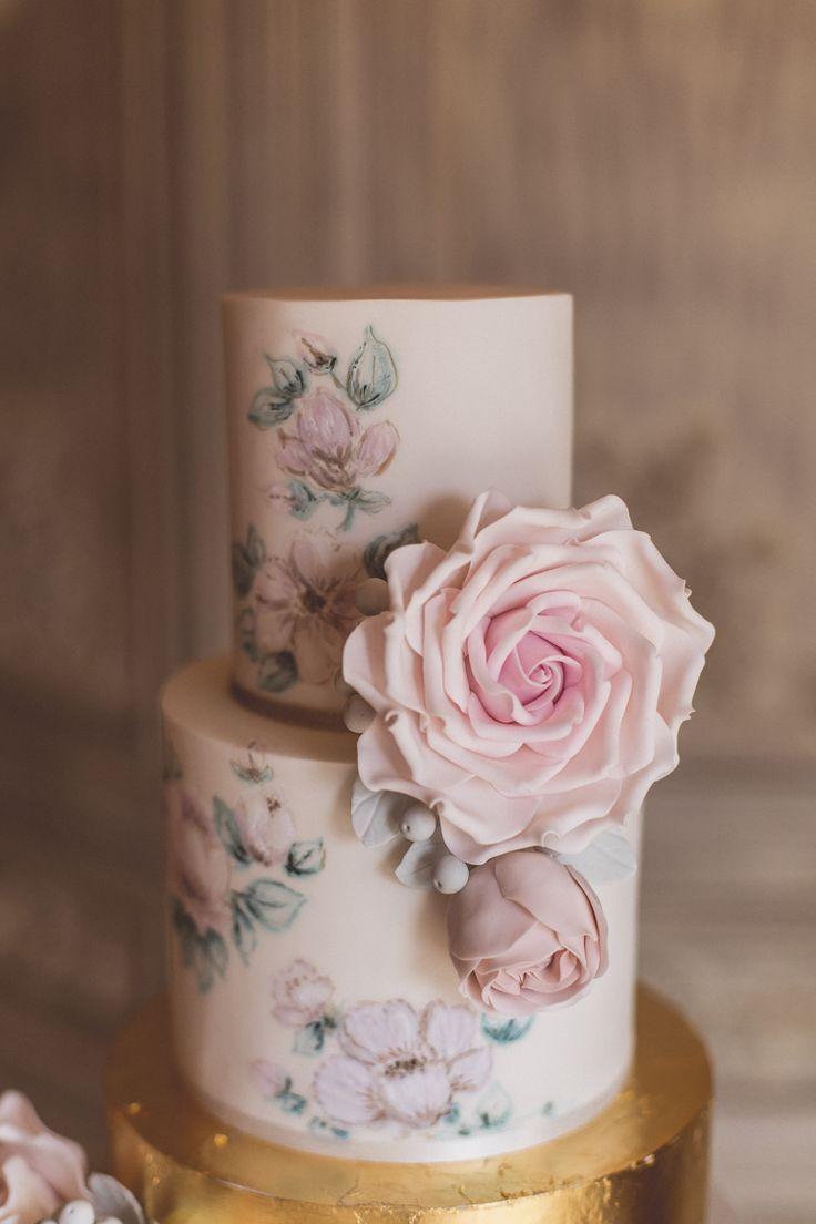 Rose quartz u serenity spring wedding ideas wedding floral cake