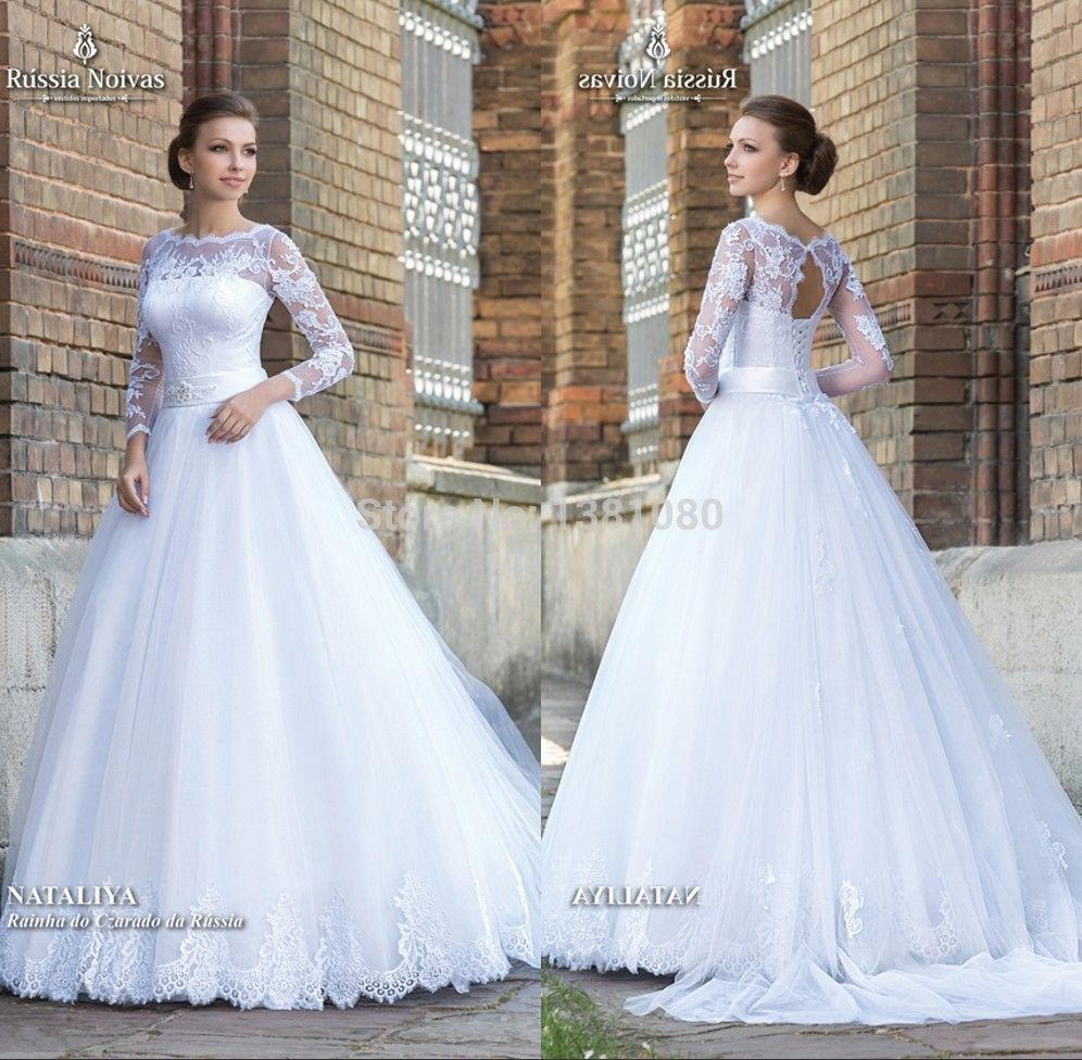 4c29a064b336 Cheap dress korean, Buy Quality dress code dresses directly from China  dresses nj Suppliers: Vintage Long Sleeve Princess Wedding Dresses Bridal  Gowns 2017 ...