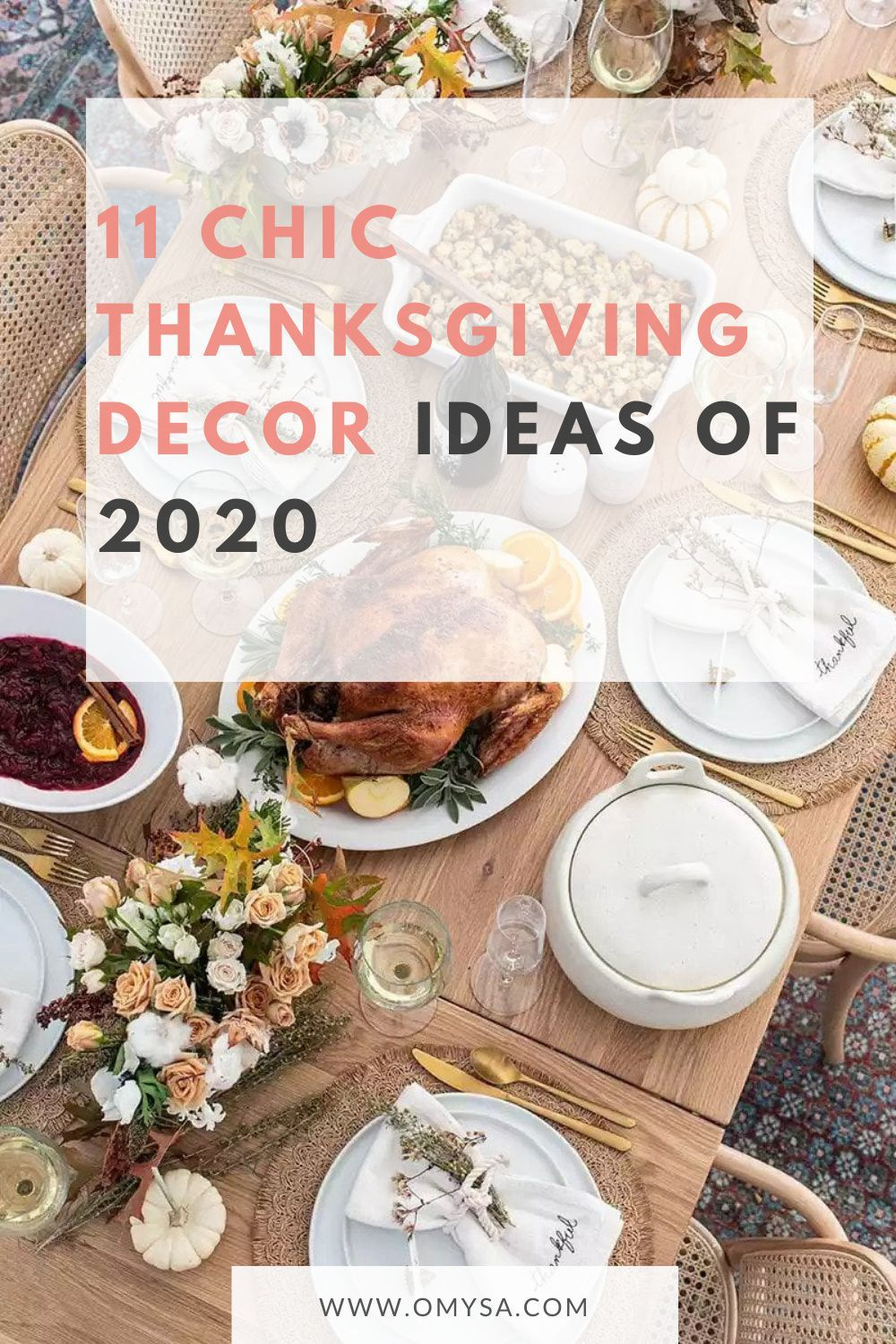 32 Chic Thanksgiving Décor Ideas to Celebrate Turkey Day   Chic ...
