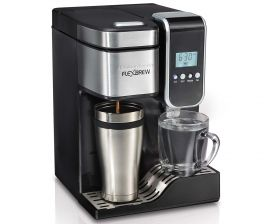 Programmable Single Serve Coffee Maker With Hot Water Dispenser