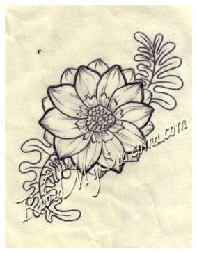 Tatto flower drawings flower line drawing by northgeorgiatattoos flower line drawing mightylinksfo Image collections