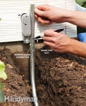 electrical wiring how to run power anywhere handyman pinterest rh pinterest com 10 2 Underground Electrical Wire Outdoor Electrical Wire Types