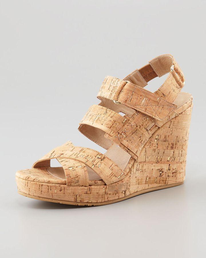 6d3d5ae4b0ca5 Donald J Pliner Gretel Cork Wedge Sandal, Gold/Natural   footware ...