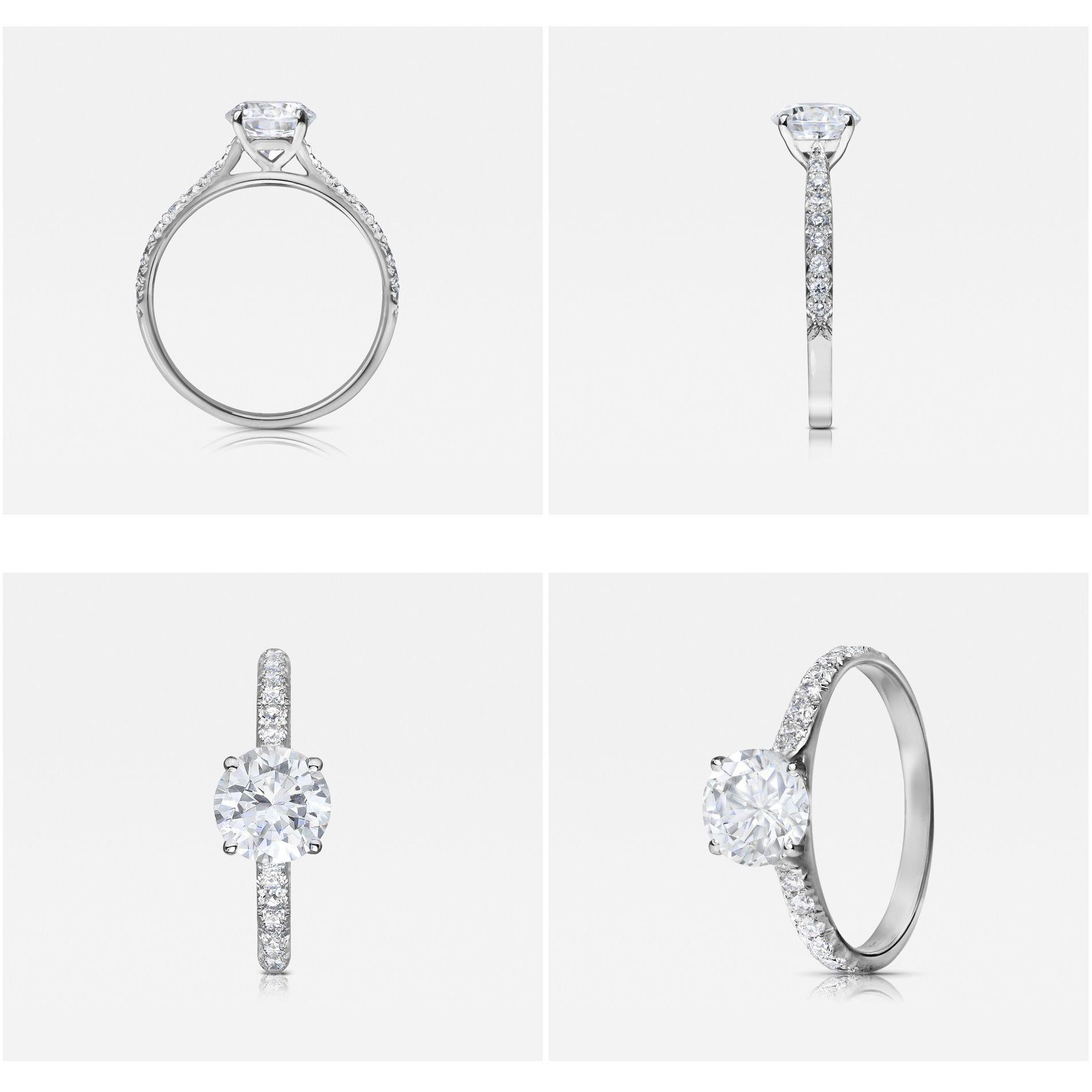 contour diamond wedding band Contour Vintage engagement ring by 77 Diamonds