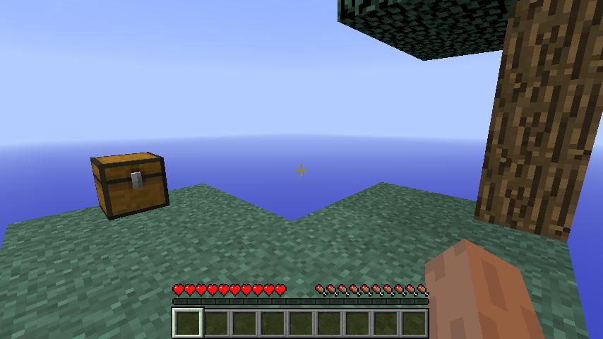 001) Start of SkyBlock 2.1 in Mine Craft. Block's Grass
