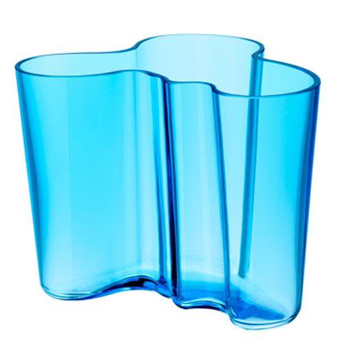 "iittala Aalto Vase 6 1/4"" Turquoise $195.00"