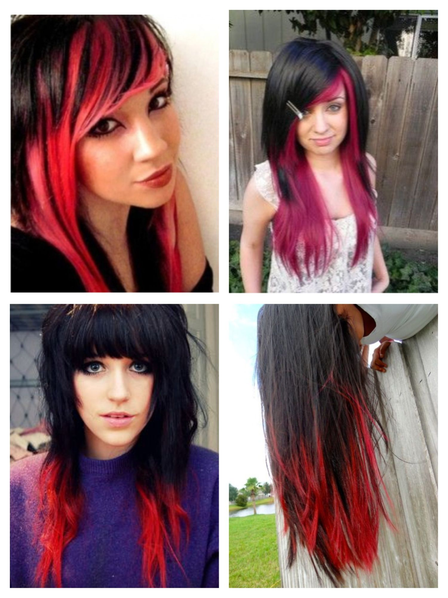 doing red again. not this hair style but red underneath my bangs