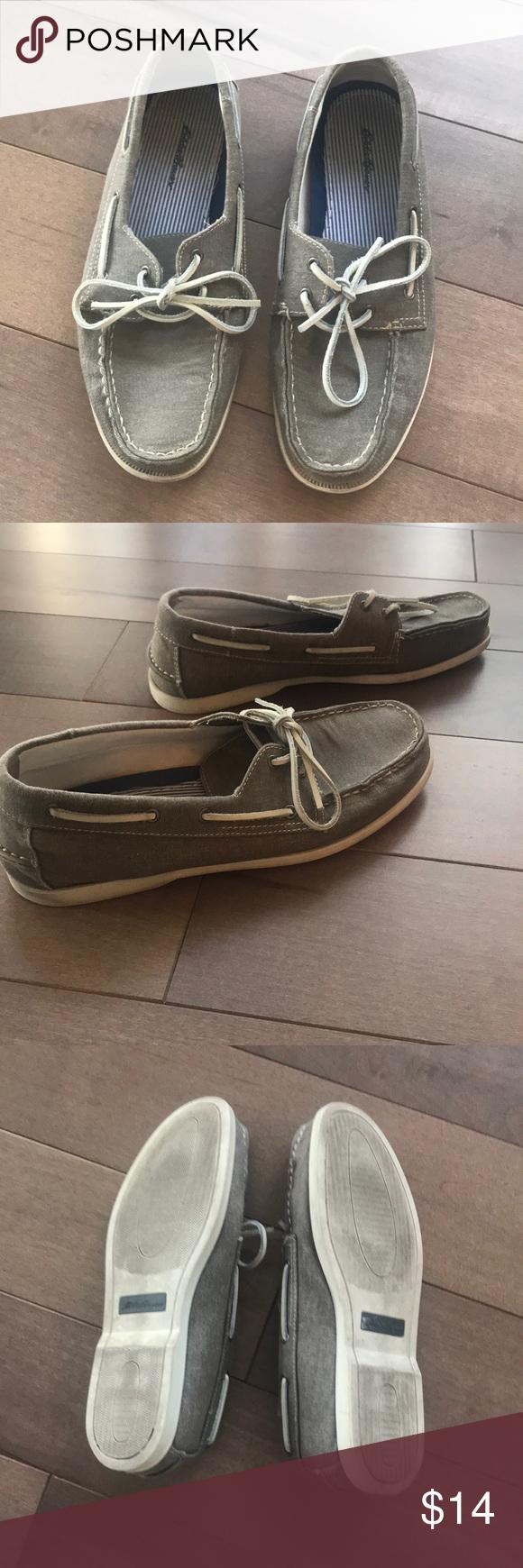 Men's Eddie Bauer Gray Boat Shoes Boat shoes