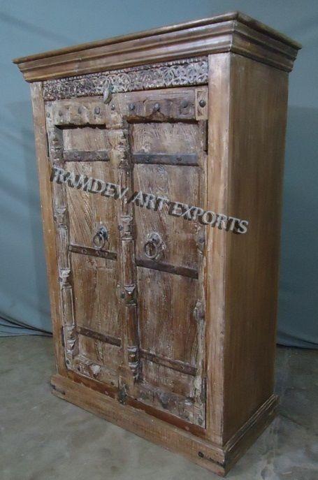 Indian Wooden Old Door Almirah Wooden Cabinets Indian Furniture Wooden