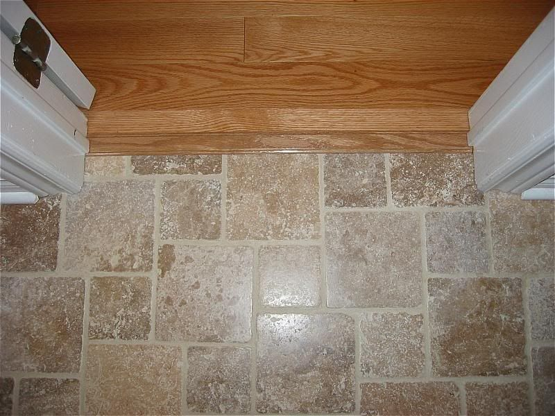 Strip To Do Transition From Wood To Tile Redflagdeals Com Flooring Kitchen Flooring Wood Tile