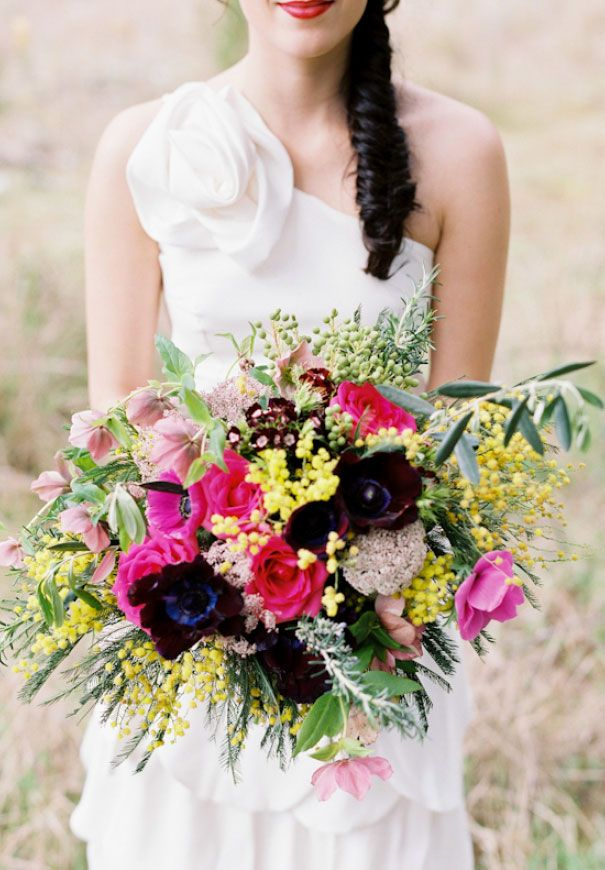 new-zealand-wedding-barn-floral-inspiration-kelsey-genna-bridal-gown-wedding-dress3  wildwood photography and rosies flowers bouquet