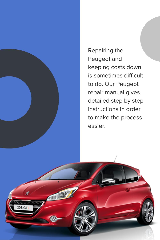 Cars Peugeot Service Repair Workshop Manuals Peugeot Car Workshop Repair Manuals