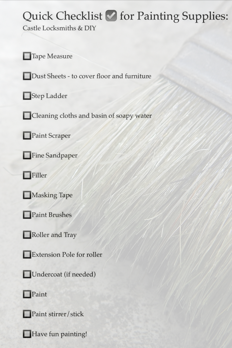 Quick Checklist For Painting A Room Cleaning Clothes Paint