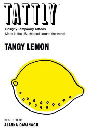 My lemon Tattly.   More to follow....