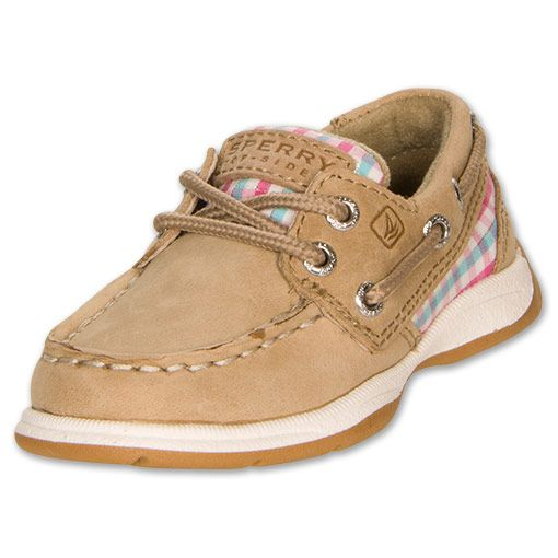 Girls' Toddler Sperry Intrepid Boat Shoes | FinishLine.com | Pink Plaid