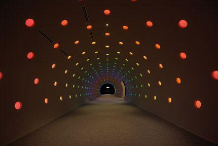 Midland Square, Tokyo. lighting tunnel