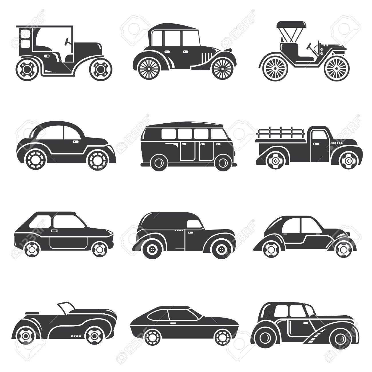 Vintage Car Symbols Free Vector Jpg Vintage Car Vector
