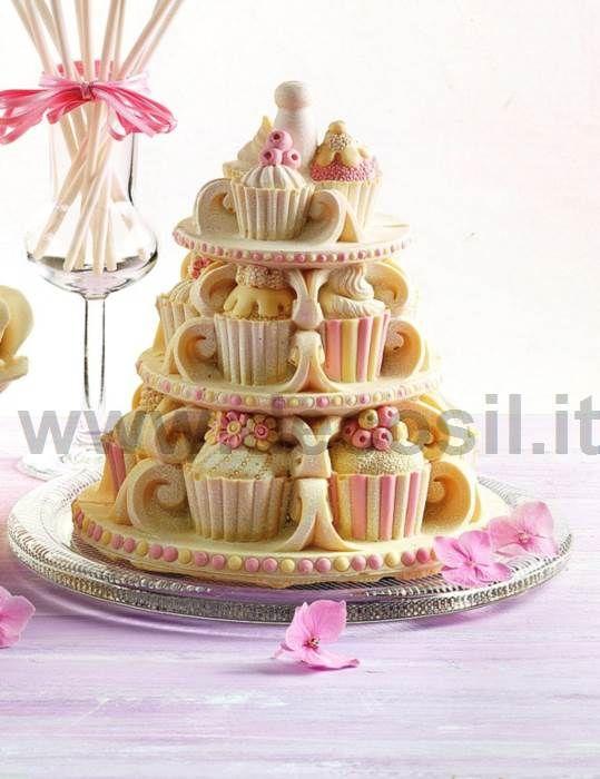 Campana Cupcakes moldes en silicone LINEAGUSCIO