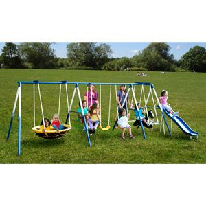 Sportspower Super 8 Fun Metal Swing Set Swing Set Pinterest